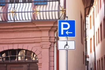 metal parking sign