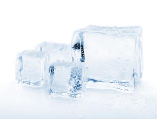 melting ice cubes toned