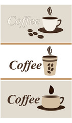 Set of coffee icons,vector
