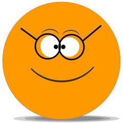 Smiley-Orange:Lunette