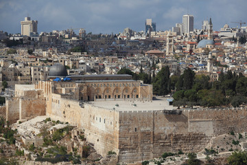Holy City of Jerusalem.The Al-Aqsa Mosque