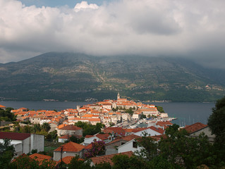 Korcula town in Croatia.
