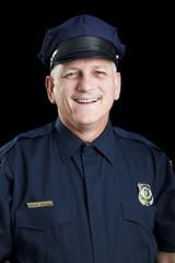 Friendly Policeman on Black