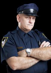 Policeman on Black - Arms Folded