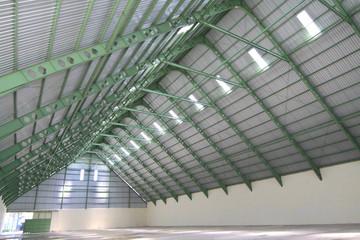 Interior of raw sugar storage room