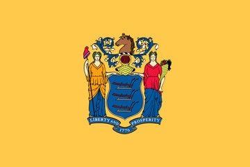 Fototapete - New Jersey state flag