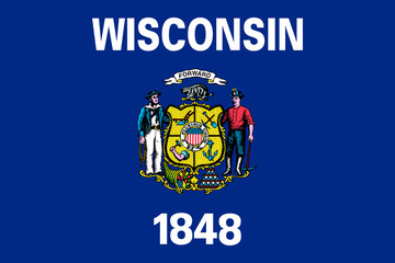 Wall Mural - Wisconsin state flag