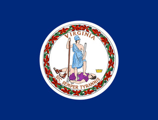 Wall Mural - Virginia state flag
