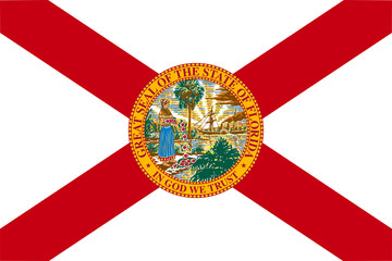 Wall Mural - Florida state flag