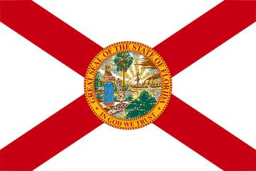 Fototapete - Florida state flag