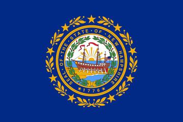 Fototapete - New Hampshire state flag