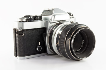 old photo camera isolated  (includes clipping path)