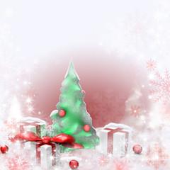 christbaum mit geschenken