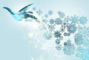 paloma de la paz en navidad