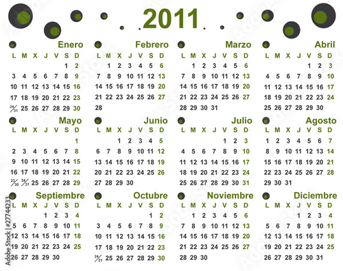 2011 Calendario.Calendario 2011 Stock Image And Royalty Free Vector Files