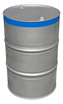 Oil barrel isolated on white. Clipping path included.
