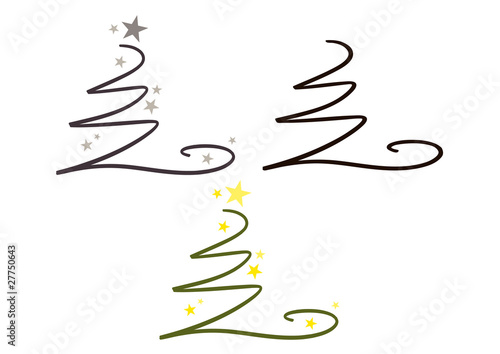 abstrakter moderner weihnachtsbaum symbol logo. Black Bedroom Furniture Sets. Home Design Ideas