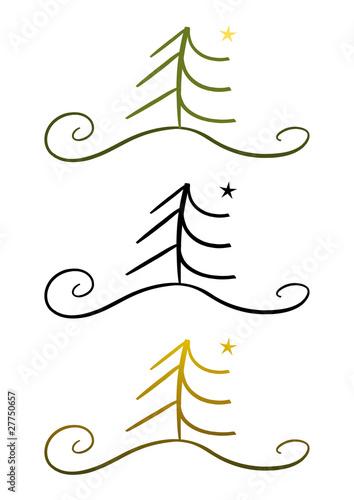 abstrakter moderner weihnachtsbaum 3 farbversionen. Black Bedroom Furniture Sets. Home Design Ideas
