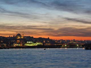 Sunset on the Golden Horn Bay