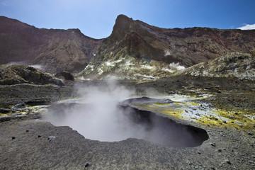 Krater, White Island, Neuseeland