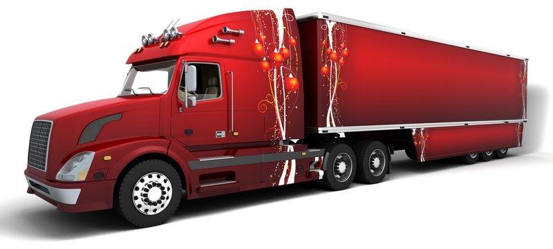 Christmas American semi-trucks