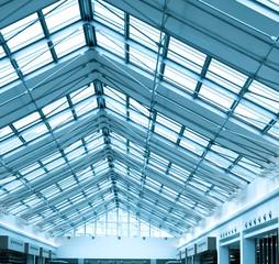 modern roof inside office center