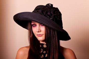 Beautiful brunette fashion model