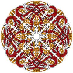 Detailed celtic design element with birds