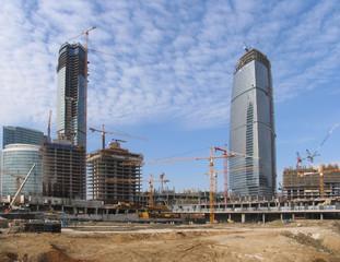 Office centre construction site
