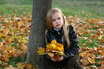 Blond Girl in the Park