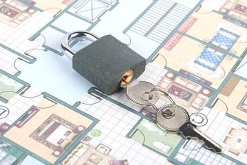 Lock and blueprint
