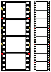 Wall Mural - 35mm format movie filmstrips, picture frames,