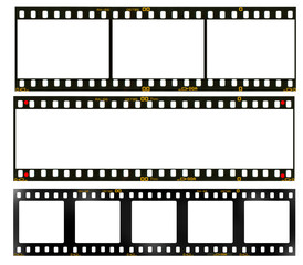 35 mm filmstrips, standard ,panoramic and square blank frames