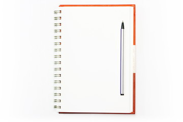 Face notebook isolated on white .
