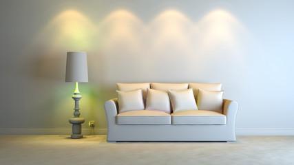 a gray 3d interior composition