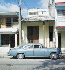 old car in Guantánamo''s street, Cuba
