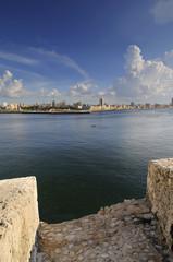 View of Havana city bay entrance
