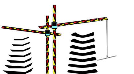 vector illustration cranes