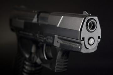 拳銃のアップ