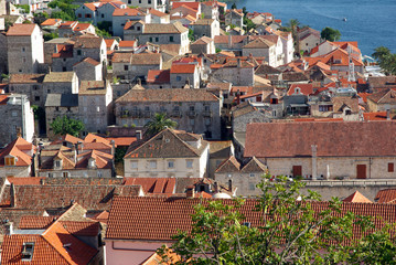 View of the roofs of Hvar