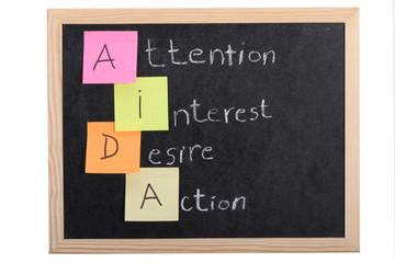 aida concept on blackboard