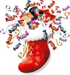 Wall Murals Draw Calza di Natale con Giochi e Dolci-Christmas Stocking Swap