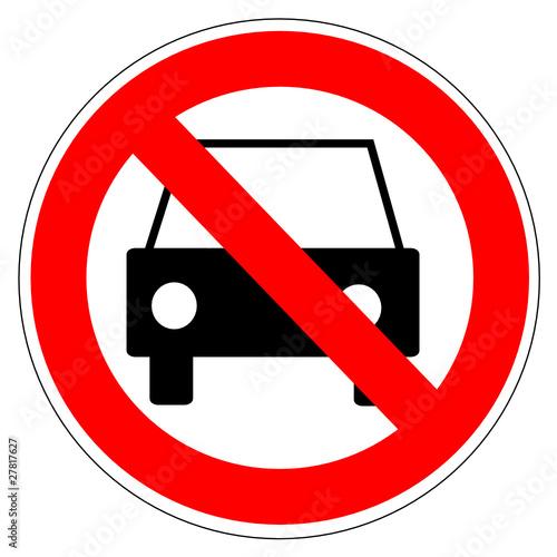 panneau interdit aux voitures fichier vectoriel libre de droits sur la banque d 39 images fotolia. Black Bedroom Furniture Sets. Home Design Ideas