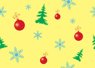 vector seamless color texture for christmas