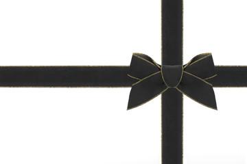 Samtschleife schwarz
