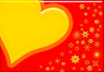 Weihnachtskarte mit Sternen Herz