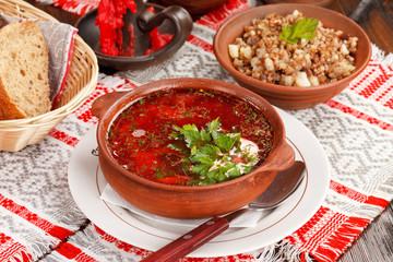 Lithuanian borscht (national belorussian food)