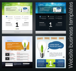 web site templates set