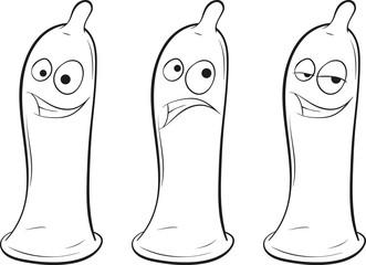 three condoms