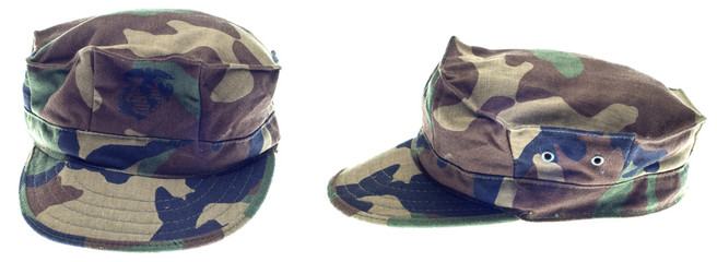 USA Marine Corps Military Hat from Two Angles